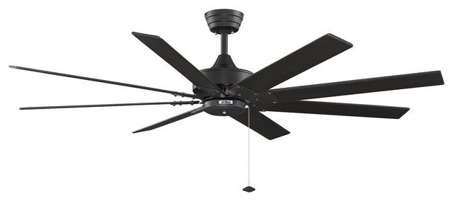 Fanimation Levon 63-inch Black Ceiling Fan contemporary-ceiling-fans