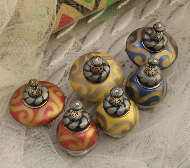 Mini and Nu Carnival Cabinet knobs contemporary-cabinet-and-drawer-knobs