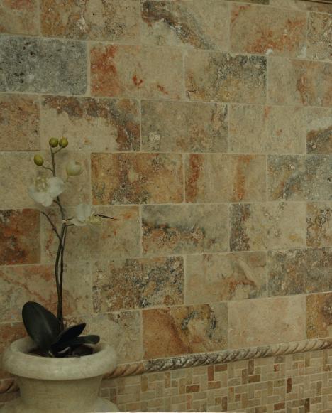 elegant mexican bathroom travertine tile tropical new york by