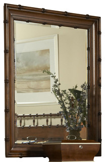 Summer Home Bamboo Mirror Tropical Mirrors By Carolina Rustica