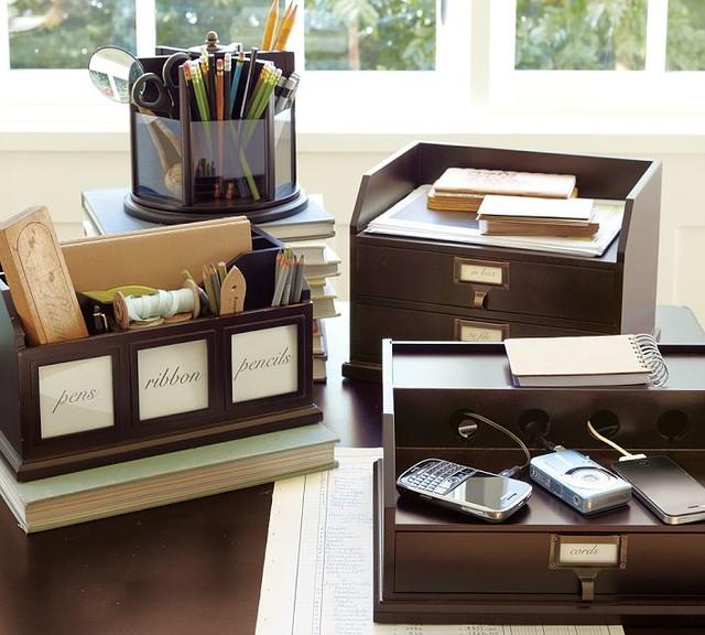 Bedford Desk Accessories - Traditional - Desk Accessories - sacramento - by Pottery Barn
