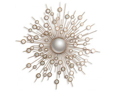 www.essentialsinside.com:  raindrops gold sunburst mirror contemporary-mirrors