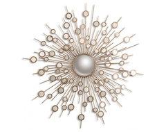 www.essentialsinside.com:  raindrops gold sunburst mirror contemporary-wall-mirrors