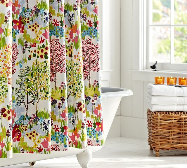 Woodland Shower Curtain Contemporary Curtains By