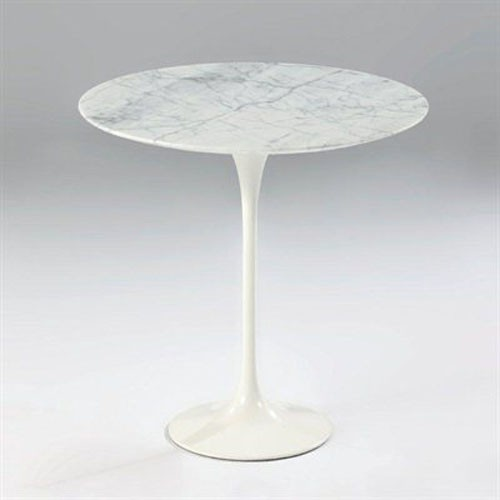 Mobital Furniture - Beauty Marble Top Side Table - WEN-BEAU-CARR-ROUND traditional-side-tables-and-end-tables