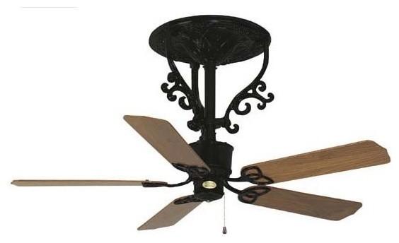 Americana ceiling fan short stem traditional ceiling fans by carolina rustica - Black iron ceiling fan ...