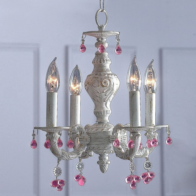 Antiqued Chandelier eclectic-kids-ceiling-lighting