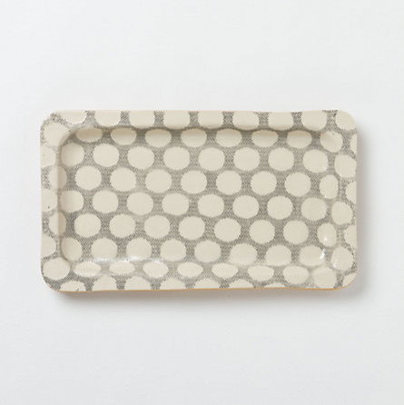 Stretched Dot Stoneware Tray contemporary-desk-accessories