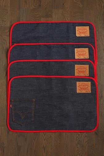 Vintage Levi's Big E Placemats contemporary-placemats