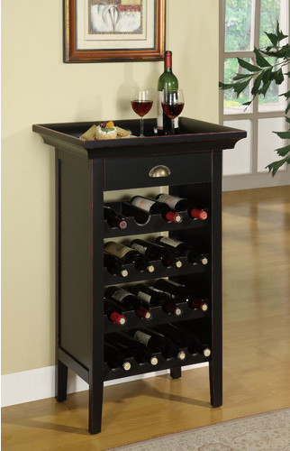 Rub Through 16 Bottle Wine Cabinet modern-beer-and-wine-refrigerators