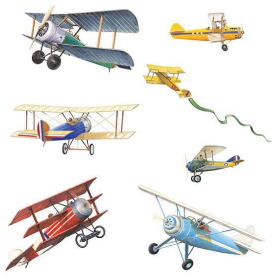 Airplane wall stickers best free home design idea for Airplane wall mural