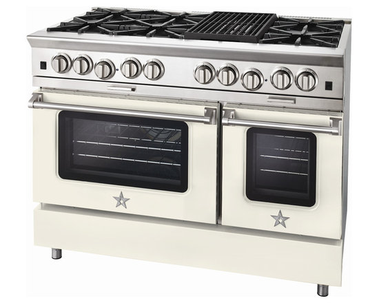 "BlueStar Platinum Series: 48"" Range - 48"" BlueStar Platinum Range in Cream (RAL 9001)"