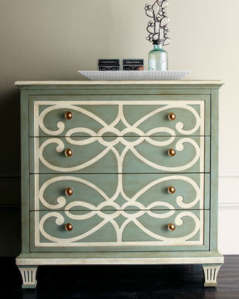 Bethany Scrolls Chest traditional-dressers