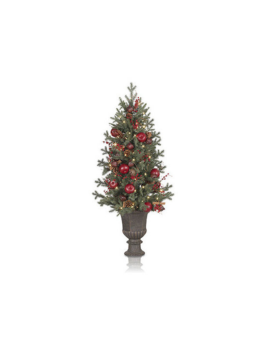 Balsam Hill Heritage Spice Potted Artificial Christmas Tree - A FESTIVE HARVEST WITH BALSAM HILL'S HERITAGE SPICE POTTED TREE |
