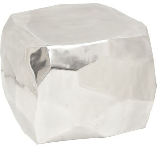 Marlow Diamond Cube Silver modern-side-tables-and-end-tables