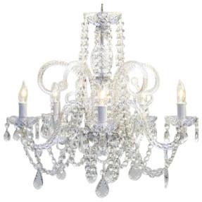 Crystal chandelier Lighting Swag Plug In-chandelier traditional-chandeliers