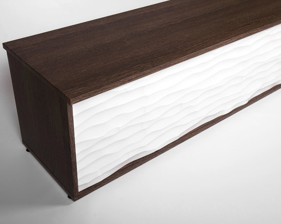 """Textured Benches - For Seating and Storage - Sit down, relax and be inspired by Textured Benches by Soelberg Industries. Ideal to create a place of gathering in your lobby, breakroom, cafe or living space. Textured Benches serve multiple purposes, from seating to storage or simply to add another layer of texture and design. Textured Bench cases are constructed using high quality MDF core and 3D laminate surfacing. Textured faces are manufactured using MDF or baltic birch core depending on the texture chosen. Each bench comes assembled with 1"""" height adjustable glides for leveling. We offer a variety of textures and finishes to make your bench uniquely yours."""