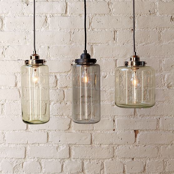 Glass Jar Pendants contemporary pendant lighting