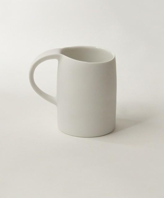 White Coffee Mug Contemporary Mugs Other Metro By