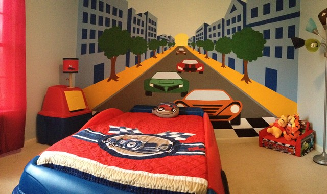 Cars Amp Trucks For Kids Rooms Contemporary Kids Wall