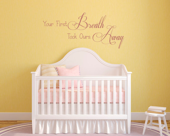 Wall Lettering Designs - Wall lettering for a baby  nursery. Available in multiple sizes and colors. Custom designs available.