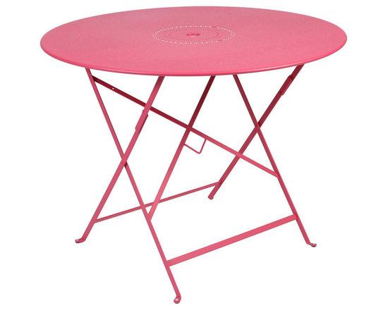"Fermob 38"" Floreal Bistro Table - 0236 Fermob Floreal Bistro Table in Fuchsia"