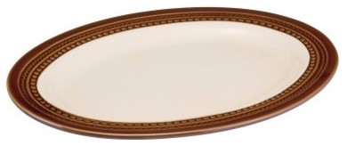Paula Deen Southern Gathering Chestnut Dinnerware Oval Platter modern-serving-dishes-and-platters