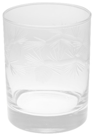 Icy Pinecone Set Of 4 Dof Glasses traditional-cups-and-glassware