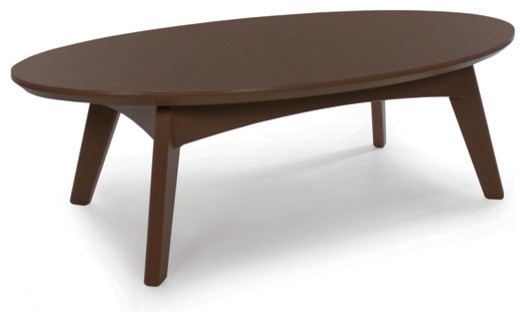 Satellite Cocktail Table Oval Chocolate Brown Contemporary Outdoor Tables