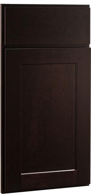Rockford Door | Birch Sable Finish | CliqStudios.com Kitchen Cabinets contemporary-kitchen-cabinetry