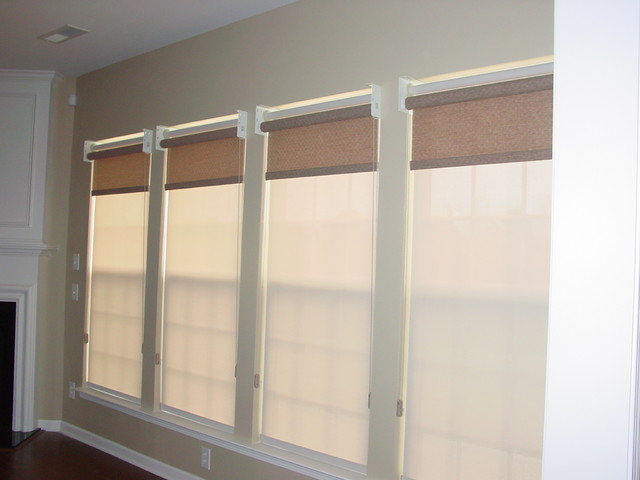 Hunter Douglas Dual Roller Shades - Traditional - Roller Shades - charlotte - by Diana's Blinds ...