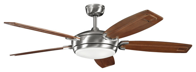 Kichler 4-Light Fan - Brushed Stainless Steel traditional-ceiling-fans