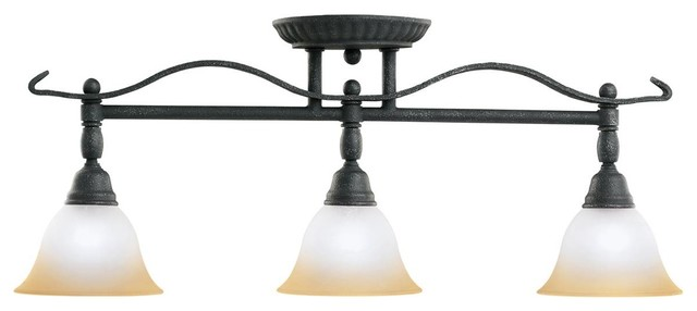 Kichler Pomeroy 3 Light Track Lighting In Distressed Black
