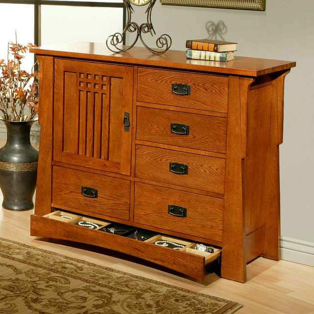 Bungalow One Door Butler Chest contemporary-buffets-and-sideboards