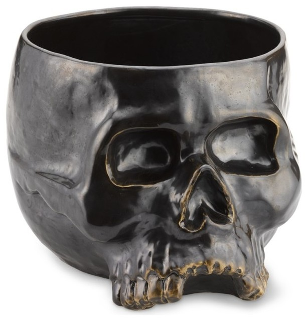 Halloween Skull Punch Bowl Eclectic Punch Bowls By