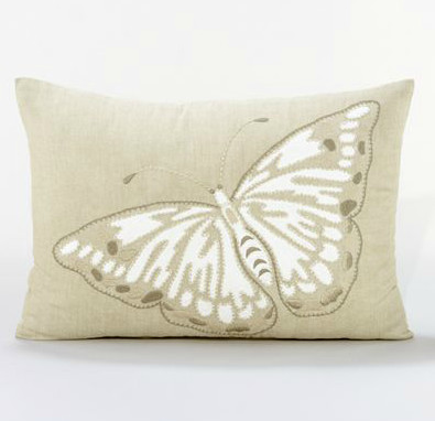 Butterfly Lumbar Toss Pillow contemporary-pillows