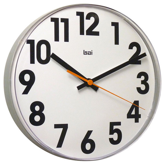 Large Numbers Lucite Wall Clock Modern Wall Clocks Other Metro By Pur