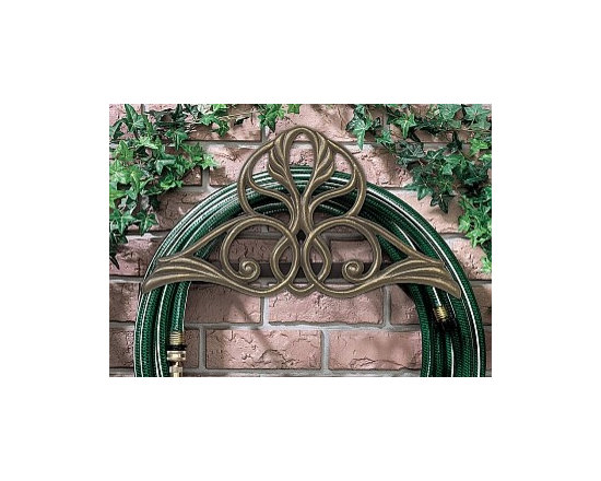 Home & Garden Accents - This aluminum Victorian inspired hose holder is a unique and decorative way to enhance the exterior of your home.
