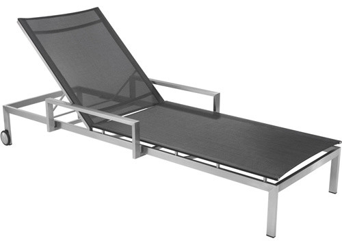 Authenteak stainless collection modern outdoor chaise for Chaise lounge atlanta