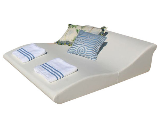 Home Infatuation - Double Wide Tide Chaise - For sunbathing or lounging the simplistic, modern design of the double wide Tide chaise lounge is a perfect fit for patio, poolside or deck.