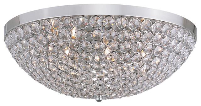 Trans Globe 7-Light Flush-Mount transitional-ceiling-lighting