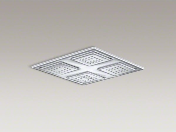 KOHLER Watertile(R) Rain overhead showering panel with four 22-nozzle sprayheads contemporary-showers