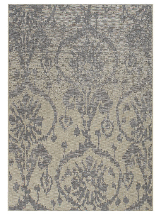 Thailand Sunburst rug in Chambray - Thailand reweaves the rich, concentrated patterns of the Silk Road for today's fashion forward outdoorsy set.
