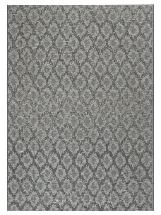 Thailand Diamond rug in Chambray - Thailand reweaves the rich, concentrated patterns of the Silk Road for today's fashion forward outdoorsy set.