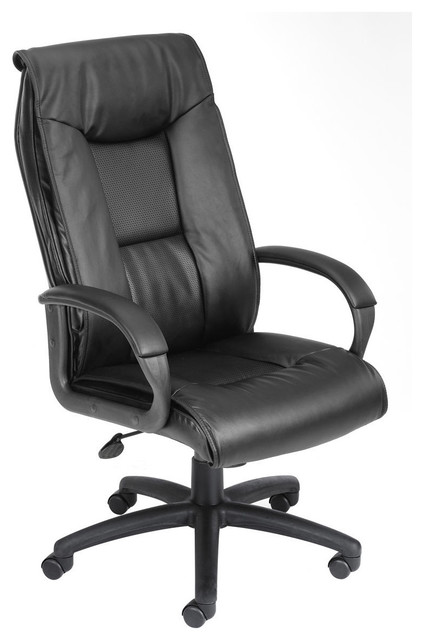 BOSS EXECUTIVE LEATHER PLUS CHAIR W/PADDED ARM & KNEE TILT contemporary-office-chairs