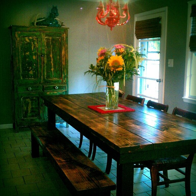 8 39 Rustic Farmhouse Dining Table Rustic Dining Tables Other Metro