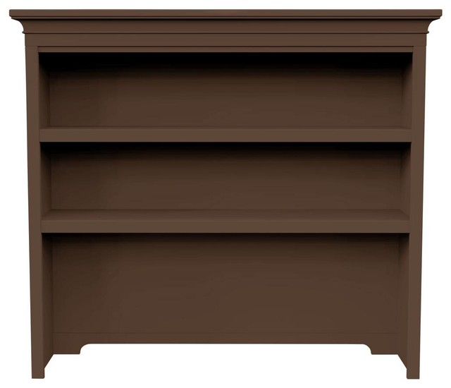 Crosspointe Hutch - Chocolate Standard Finish transitional-storage-units-and-cabinets