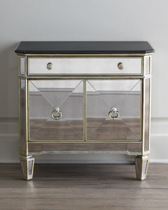 Amelie Two-Door Mirrored Chest traditional-dressers