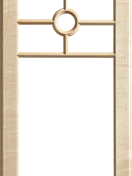 """Dura Supreme Cabinetry - Dura Supreme Cabinetry Mullion Patter #18 Accent Cabinet Door - Dura Supreme Cabinetry """"Mullion Patter #18"""" accent cabinet door shown in Maple with Dura Supreme's """"Natural"""" finish."""
