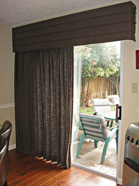 Drapery with Cornice Board - Contemporary - Curtains - dallas - by ...